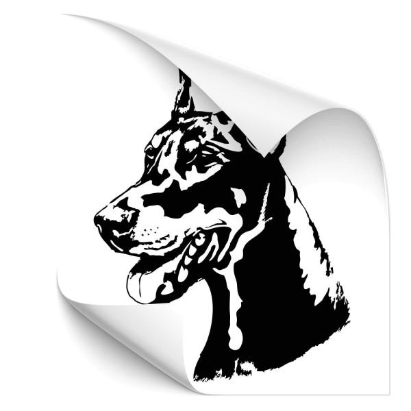 Dobermann Fahrzeug Aufkleber - Hunde