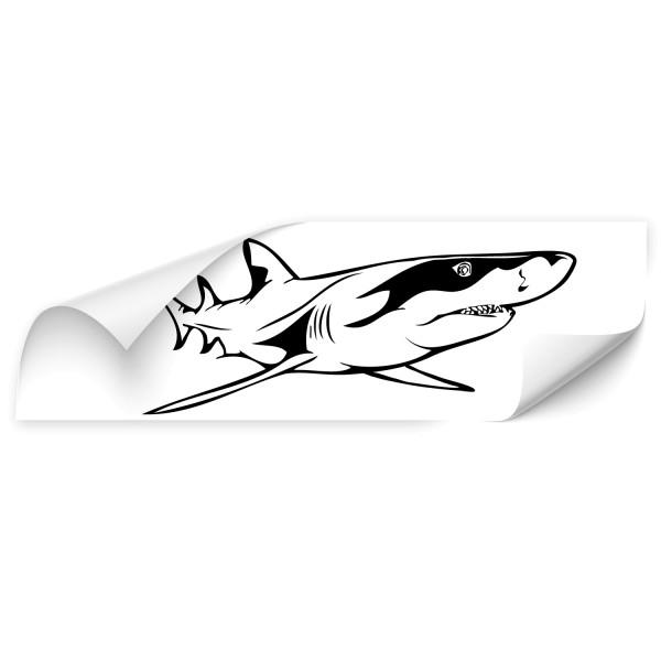 Weißer Hai Auto Folienaufkleber - unterwasserwelten