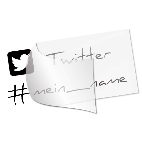 Twitter Namensaufkleber - Kategorie Shop
