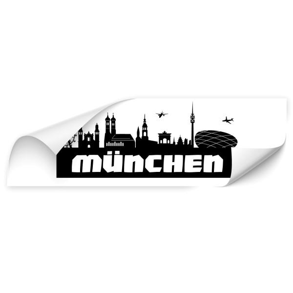 München Großstadt Silhouetten Autotattoo - Skyline