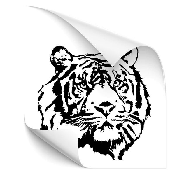 Tigerkopf Motorhaubenaufkleber - Kategorie Shop
