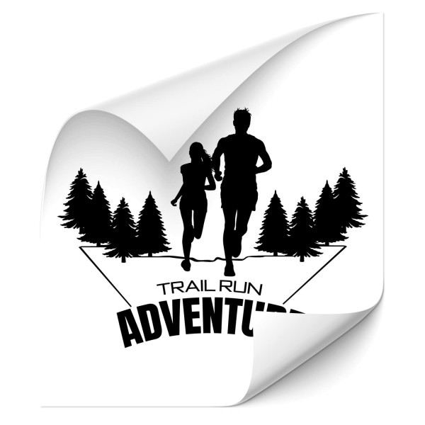 Trail Run Adventure - wandtattoo