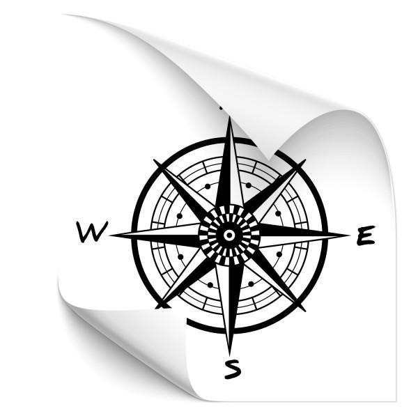 Kompass Heckaufkleber - Kategorie Shop