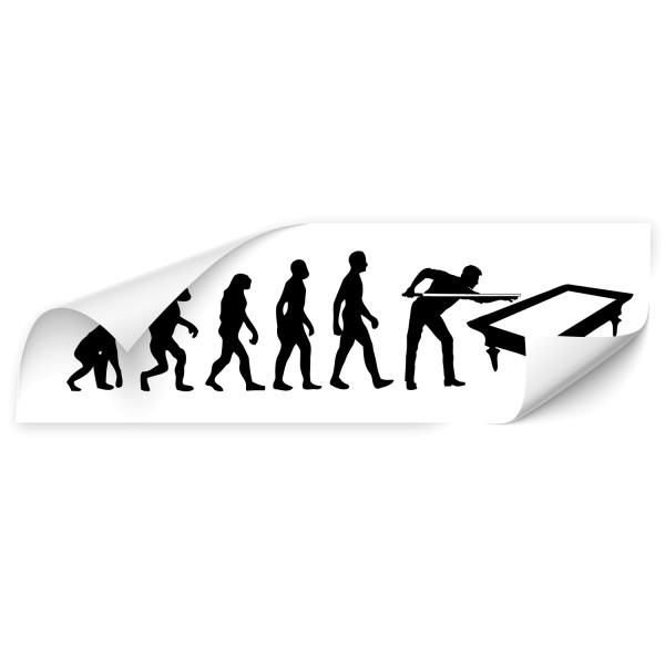 Evolution Autoaufkleber - Sport