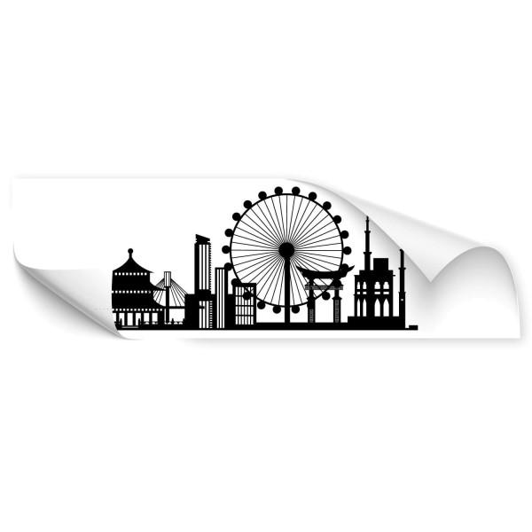 Süd Korea Skyline Auto Sticker - wandtattoo