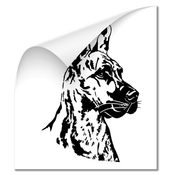 Deutsche Dogge Auto Heckscheiben Aufkleber - Hunde