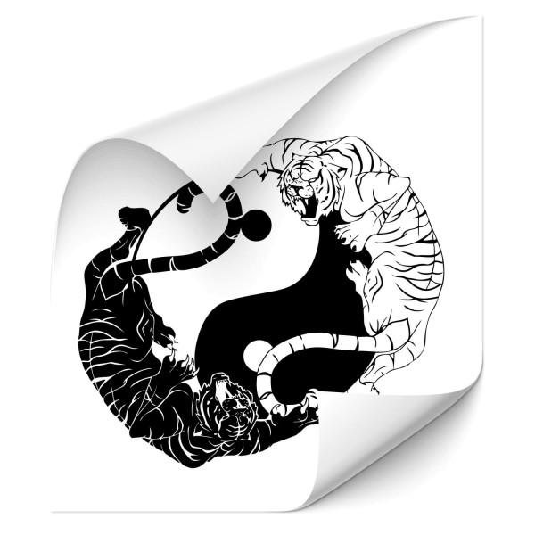 Yin & Yang Symbole mit Tiger Kfz-Tuning Sticker - katzen & Co