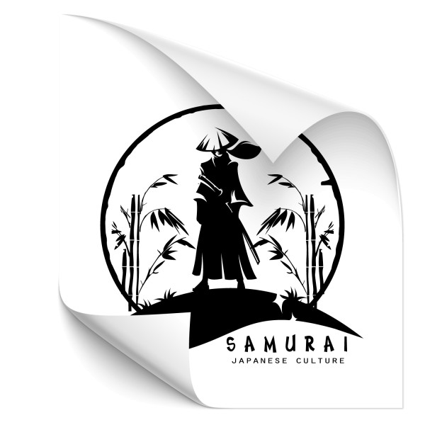 Samurai Krieger Tuning Sticker - people