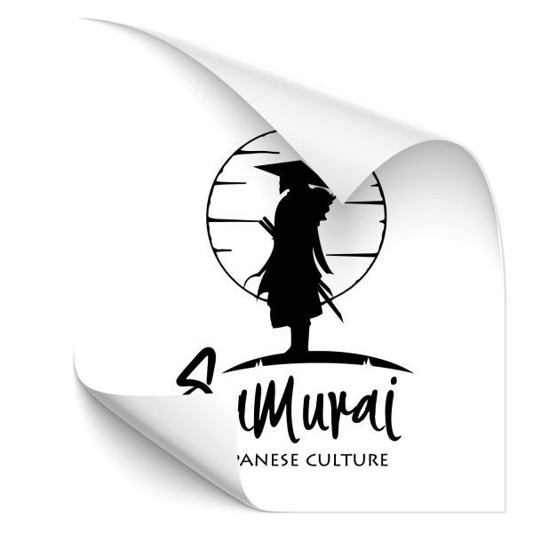Samurai Krieger Autoaufkleber - people