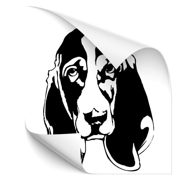 Basset Hound Hunde Heckaufkleber - Hunde