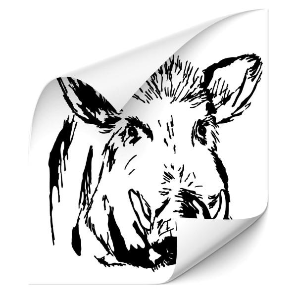 Wildschwein Auto Tattoo - Kategorie Shop