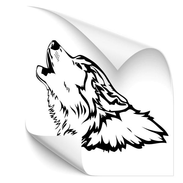 Wolf Fahrzeug Sticker - wolf