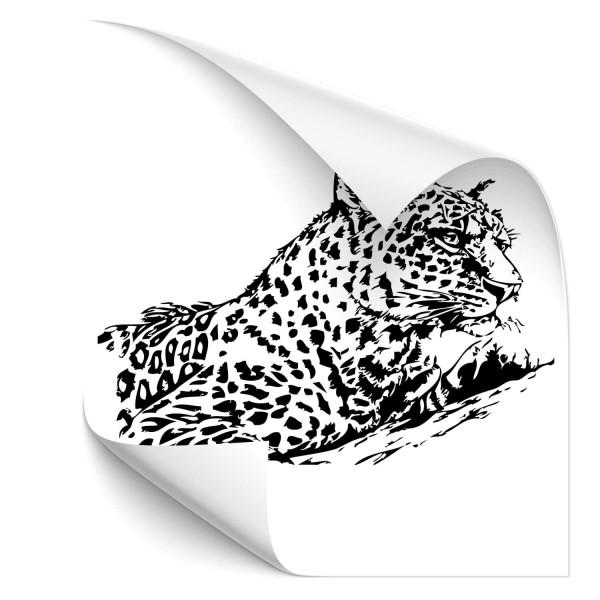 Leopard Fahrzeugaufkleber - katzen & Co