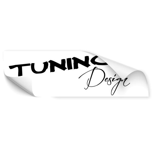 Schriftzug Tuning Design Auto Folienaufkleber - Kategorie Shop