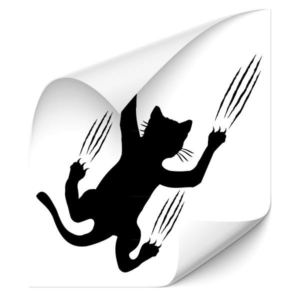 Kratze Katze Auto Aufkleber - katzen & Co