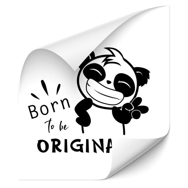 Born to be original Panda Heckaufkleber - wildnis