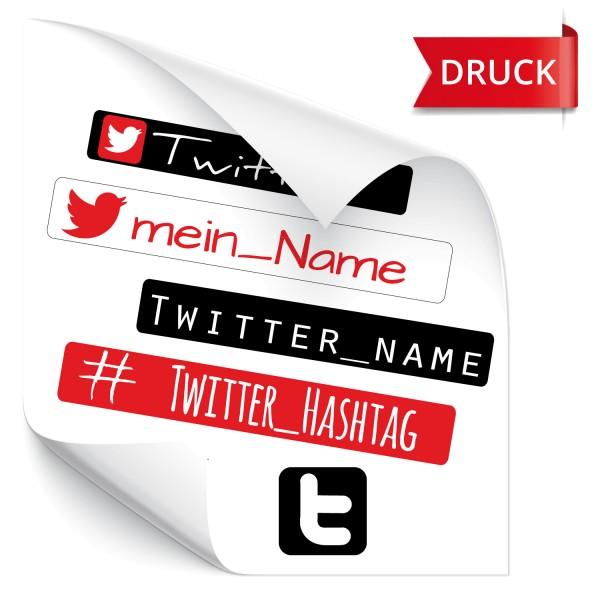 Twitter Namensaufkleber Twitter Namensaufkleber - Fahrername