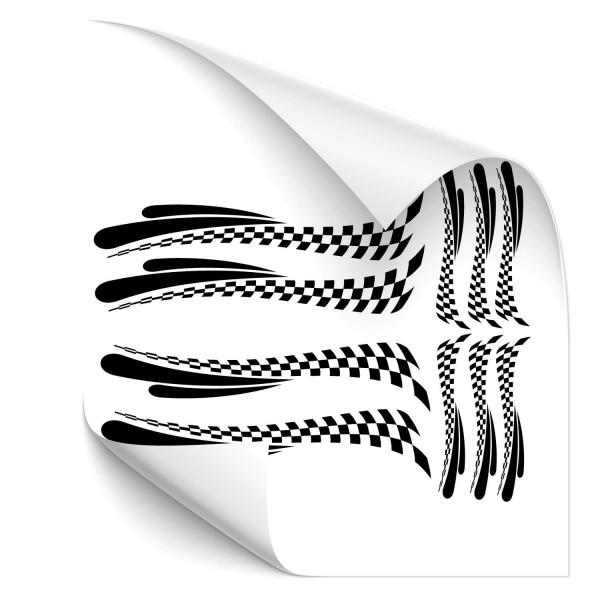 Racing Stripes-Set Motorrad Aufkleber - Kategorie Shop