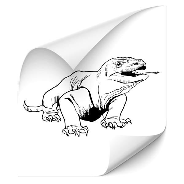 Waran KFZ Tattoo - gecko