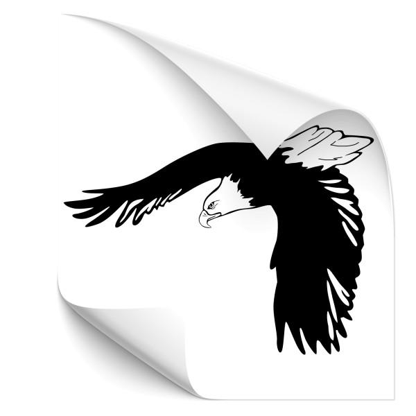 Adler im Flug Autoaufkleber - Adler & weitere Vögel