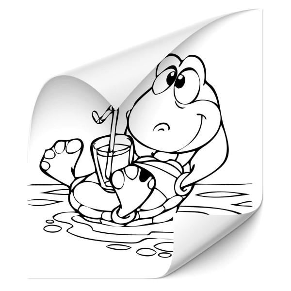 Comic Schildkröte Fahrzeug Aufkleber - unterwasserwelten