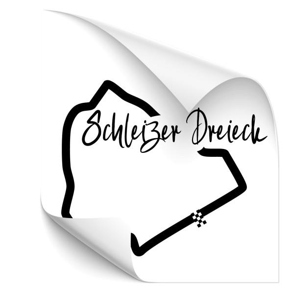 Rennstrecke - Schleizer Dreieck Autoaufkleber - sport