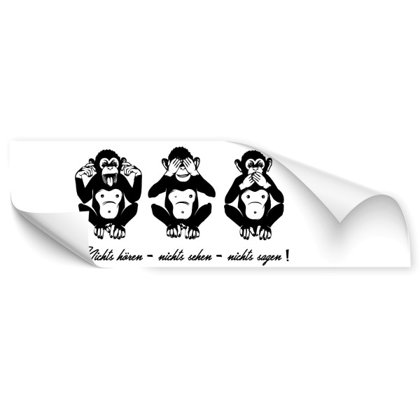 Affen Comic Autotattoo