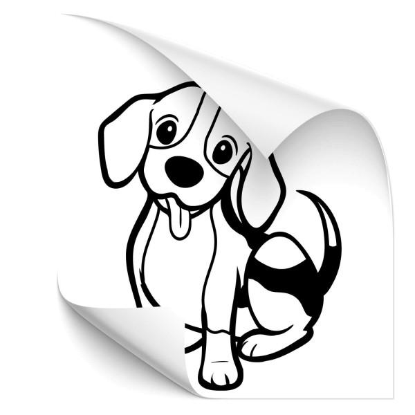 Comic Beagle Heck Aufkleber - tiere