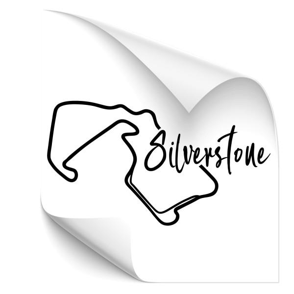 Rennstrecke - Silverstone Kfz Aufkleber - sport