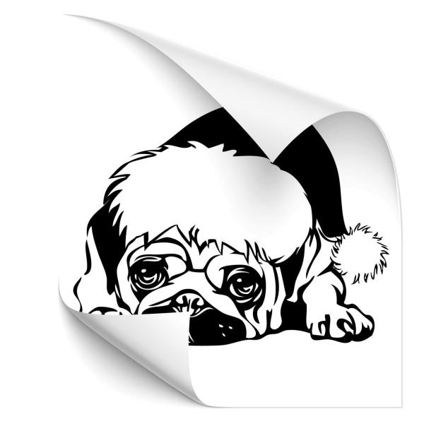 Mops Auto Folienaufkleber - Hunde