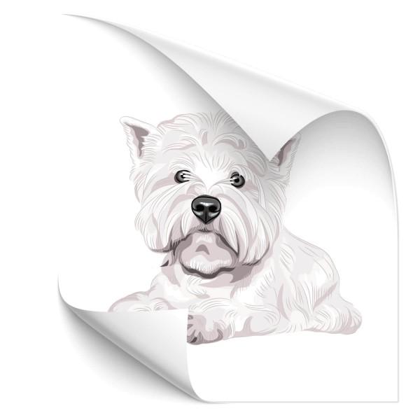 West Highland Terrier Auto Folienaufkleber - Kategorie Shop