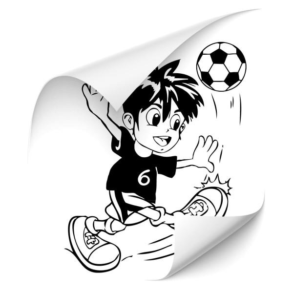 Junge mit Fußball Kfz Foliensticker - wandtattoo