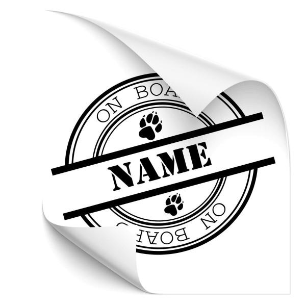 Hundeplakette mit Wunschname Fahrzeug Heckaufkleber - Sprüche | Schriftzüge