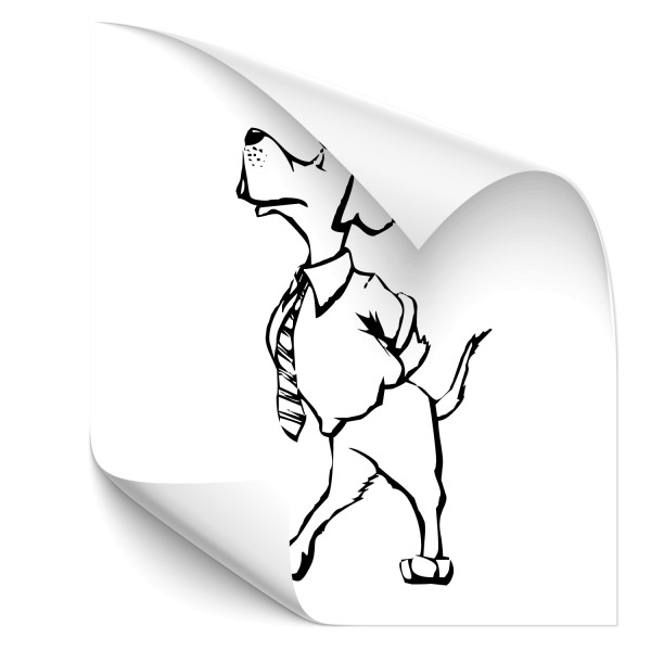 Comic Hund - Boss Kfz Aufkleber - tiere