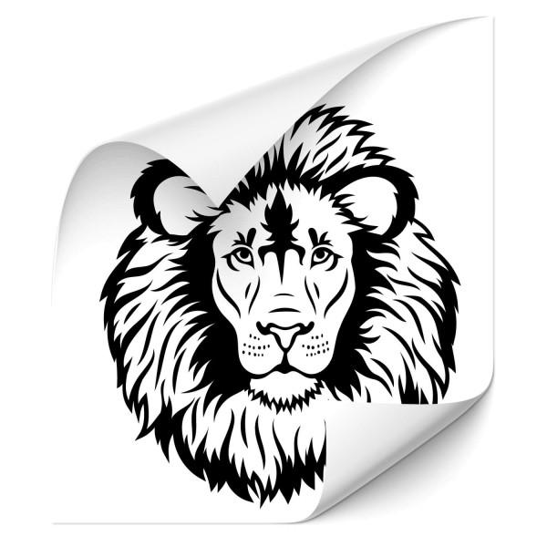 Löwenkopf Kfz Motorhauben Sticker - katzen & Co