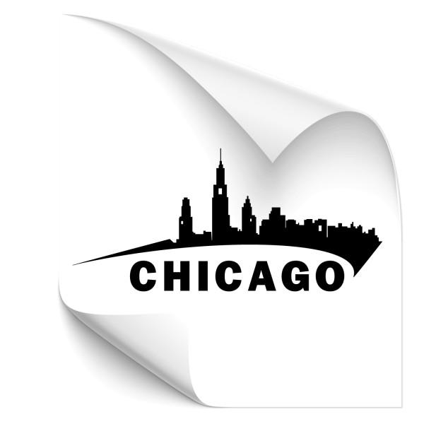 Chicago Skyline Autoaufkleber - Kategorie Shop