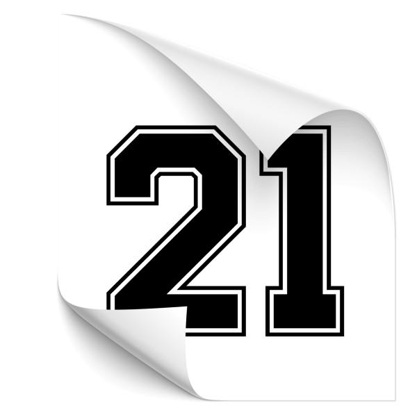 Racing Number Fahrzeug Sticker - sport