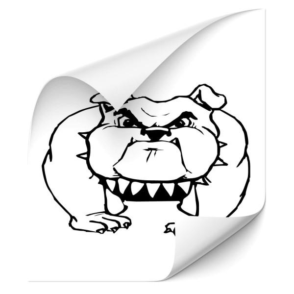 englische Bulldoggen Autosticker - tiere