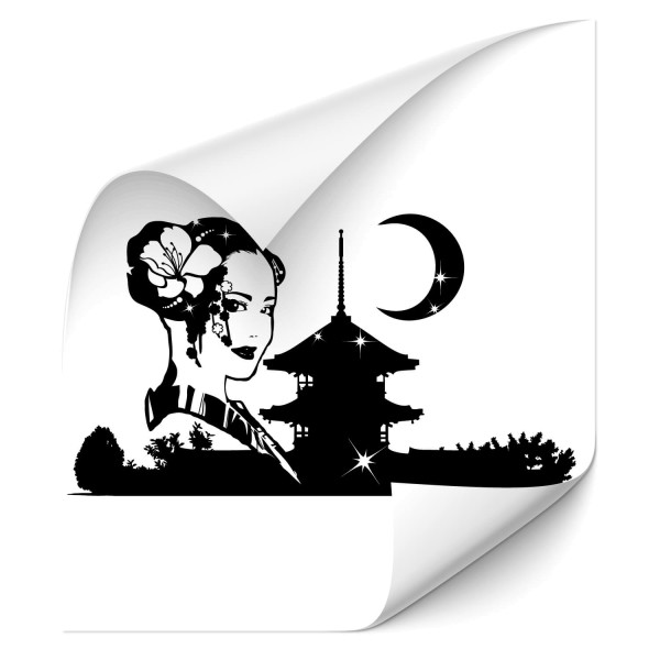 Geisha Stadtsilhouette Car Art Tattoo - Kategorie Shop
