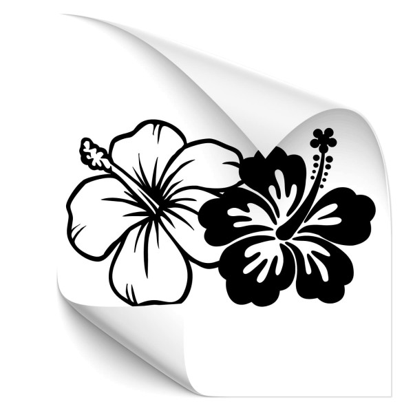 Hibiskus Blüten Fahrzeug Aufkleber - Kategorie Shop
