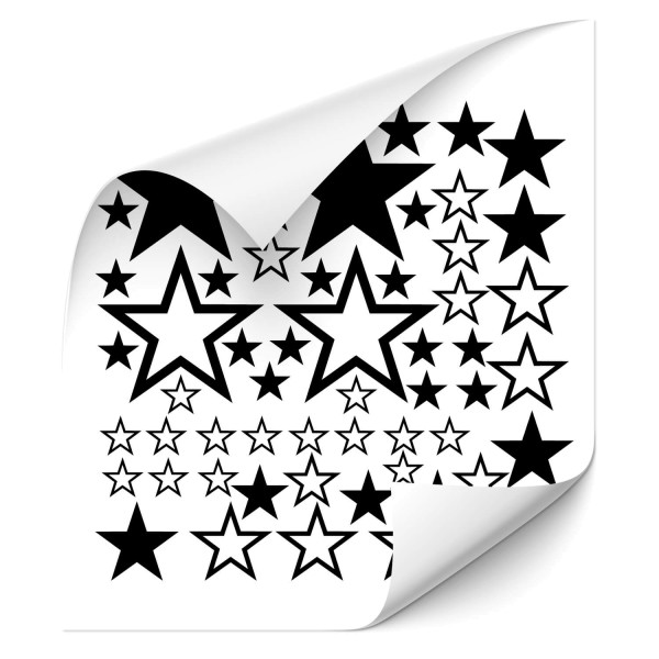 Sterne - Set Fahrzeug Sticker - Kategorie Shop