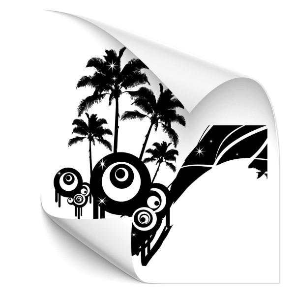 Retro Palmen Car Tattoo - Kategorie Shop