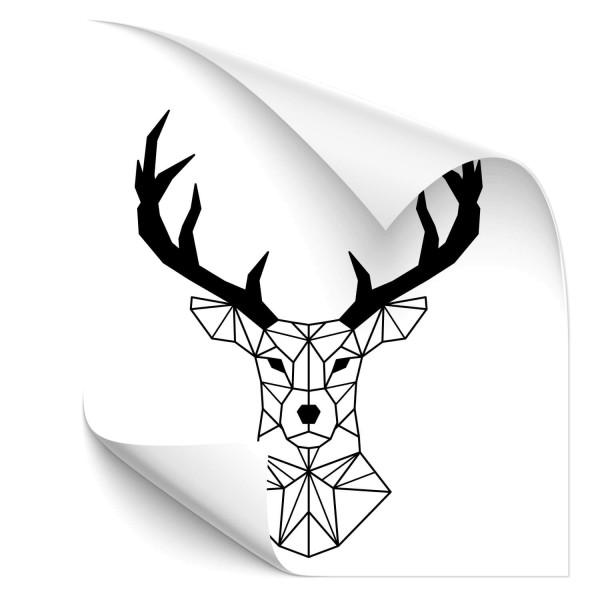 Hirsch Polygon Outdoor Car Tattoo - Kategorie Shop