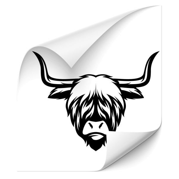 Highland Bull Autosticker - wildnis