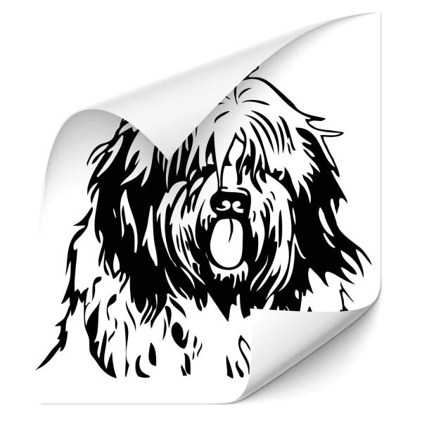 Bobtail Auto Aufkleber - Hunde