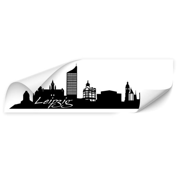 Leipzig Skyline Auto Folienaufkleber - Skyline
