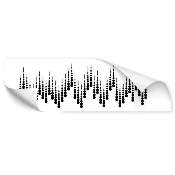 Musik Schallwellen Auto Folienaufkleber - Kategorie Shop