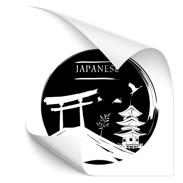 Japan Kfz Sticker - wahrzeichen
