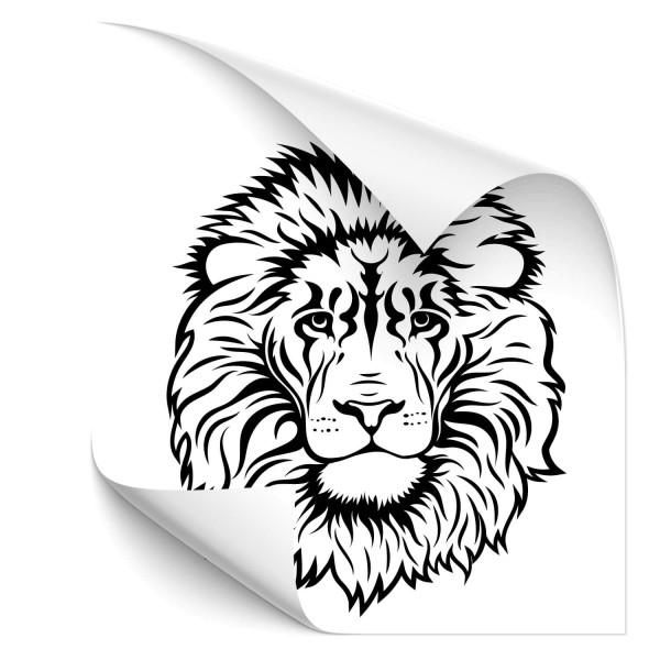 Löwenkopf Fahrzeugtattoo - katzen & Co