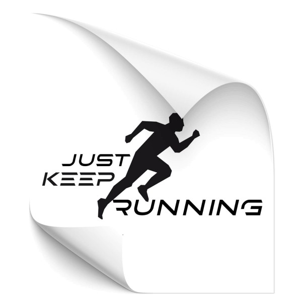 Just keep running - wandtattoo